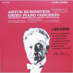 Grieg: Piano Concerto. Artur Rubinstein, Wallenberg. 1 CD. RCA Living Stereo