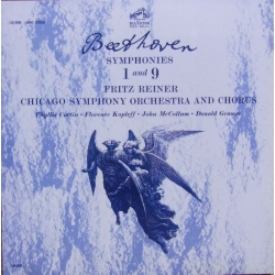 Beethoven: Symfoni nr. 1 & 9. Fritz Reiner, Chicago Symphony Orchestra. 2 CD. RCA Living Stereo