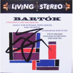 Bartok: Koncert for orkester + Musik for strygere, percussion and Celeste. Fritz Reiner. 1 CD. RCA Living Stereo