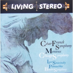 Franck: Symphony in D minor. & Stravinsky: Petrouchka. Pierre Monteux. 1 CD. RCA Living Stereo