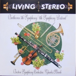 Beethoven: Symfoni nr. 5 & 6. Charles Munch, Boston SO. 1 CD. RCA Living Stereo