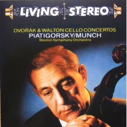 Dvorak & Walton: Cellokoncerter. Gregor Piatigorsky, Charles Munch, Boston SO. 1 CD. RCA Living Stereo