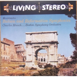 Mendelssohn: Symfoni nr. 4 & 5. Charles Munch, Boston SO. 1 CD. RCA Living Stereo