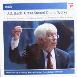 Bach: Juleoratoriet, Matthæus Passionen, Johannes Passion, Messe i H-mol. Helmuth Rilling. 10 CD. Sony
