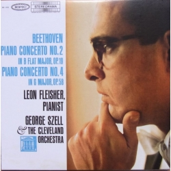 Beethoven: Piano Concertos nos. 2 & 4. Leon Fleisher, Cleveland Orchestra, Georg Szell. 1 CD. Sony