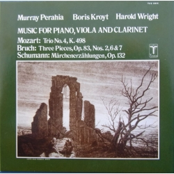 Mozart, Bruch & Schumann. Musik for klaver, Bratsch og klarinet. Murray Perahia, Boris Kroyt, Harold Wright. 1 CD. Sony