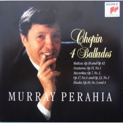Chopin: 4 Ballader. Murray Perahia. 1 CD. Sony
