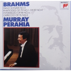 Brahms: Klaversonate nr. 3. + Rhapsodies Opus 79 og 119. Murray Perahia. 1 CD. Sony.