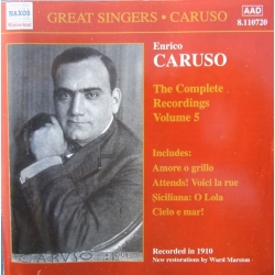 Enrico Caruso. The Complete Recordings Vol. 5. 1 CD. Naxos