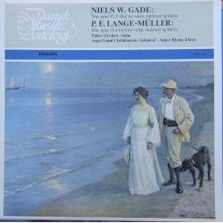 Niels W. Gade & P. E. Lange-Müller: Piano Trios. Tutter Givskov, Asger Lund Christiansen, Anker Blyme. 1 LP. DMA 024. New copy