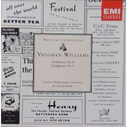 Vaughan Williams: Symphonies nos. 8 & 9. Sir Adrian Boult. London Philharmonic Orchestra. 1 CD. EMI.