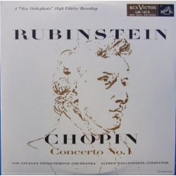 Chopin: Piano Concerto no. 1. Artur Rubinstein, Alfred Wallenstein, Los Angeles SO. 1 CD. RCA