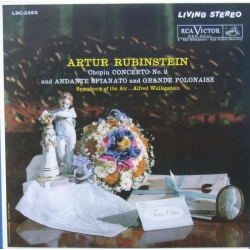 Chopin: Piano Concerto no. 2. Artur Rubinstein, Alfred Wallenstein, Symphony of the Air. 1 CD. RCA. Living Stereo