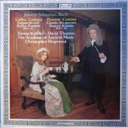 Bach: Kaffe og bonde kantate. Kirkby, Thomas. The Academy of Ancient music, Christopher Hogwood. 1 LP. L'oiseau Lyre