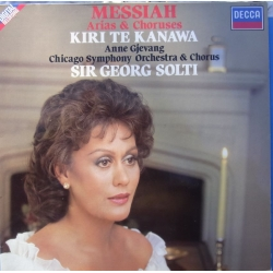 Handel: Messiah. Arier & kor. Georg Solti. Kiri te Kanawa, Anne Gjevang, Chicago SO. 1 LP. Decca