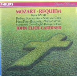 Mozart: Requiem. Gardiner. Bonney, von otter, Blochwitz, White. 1 CD. Philips