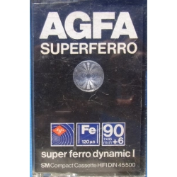 Agfa Superferro 90+6 Tape Cassette.