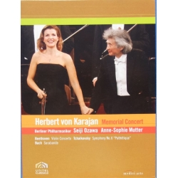 Karajan Memorial Concert. Anne Sophie Mutter, Seiji Ozawa, Berliner Philharmoniker. 1 DVD. Medici Arts