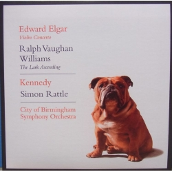 Elgar: Violin Concerto. & Vaughan-Williams: The Lark Ascending. Nigel Kennedy. Simon Rattle 1 CD. EMI