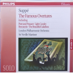 Suppe: Overtures. Poet and Peasant, Light Cavalry, Boccccio, The Beautiful Galathea. Neville Marriner, LPO. 1 CD. Philips