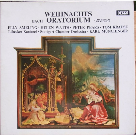 Bach: Christmas Oratorio. Ameling, Watts, Pears. Karl Münchinger. 3 LP. Decca SET 346