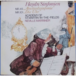 Haydn: Symfoni nr. 45 & 101. Neville Marriner, Academy of st. Martin in the Fields. 1 LP. Philips 9500520
