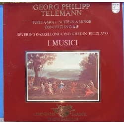 Telemann: Suite in A-minor. + Concerto in G & F. Gazzeloni, I Musici. 1 LP. Philips