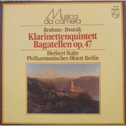 Brahms: Klarinetkvintet. & Dvorak: Bagatelles. Philharmonic Octet Berlin. 1 LP Philips