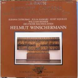 Bach: Cantatas. BWV 147 & BWV 74. Winschermann. 1 LP Philips