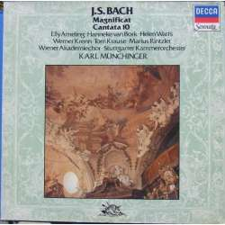 Bach: Magnificat + kantate nr. 10. Ameling, Watts, Karl Münchinger. 1 LP. Decca