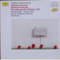 Mozart: Klarinetkoncert. + Fagotkoncert. Wright, Walt, Boston SO, Ozawa. 1 LP DG