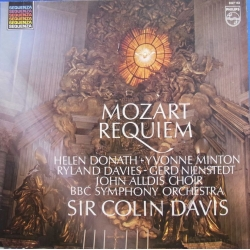 Mozart: Requiem. Colin Davis. Donath, Minton, Davies, BBC SO. 1 LP Philips