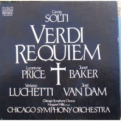 Verdi: Requiem. Solti. Price, Baker, Luchetti, van Dam. Chicago SO. 2 LP. RCA
