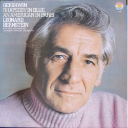 Gershwin: Rhapsody in Blue & An a American in Paris. Bernstein. 1 LP CBS. Nyt eksemplar