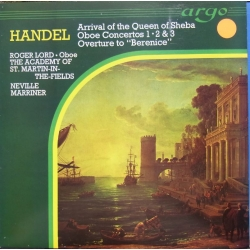 Handel: Obokoncert nr. 1-3. Lord, Marriner. 1 LP. Argo