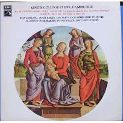 Bach: Cantata nr. 147. Herz und Mund. Ameling, Baker, Kings College Choir, Willcocks. 1 LP EMI