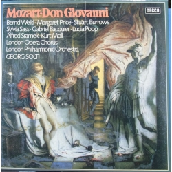 Mozart: Don Giovanni. Sir Georg Solti. Weikl, Price, Popp, Burrows, Sass, Bacquier, Moll. LPO & Chorus, 4 LP. Decca
