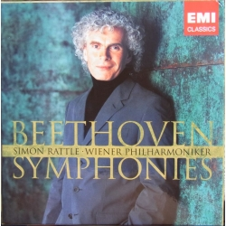 Beethoven: Symfoni nr. 1-9. Simon Rattle, WPO. 5 CD EMI. 5574452