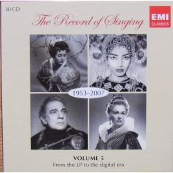 The Record of Singing. Vol. 5. (1953-2007). 10 CD. EMI, New Copy