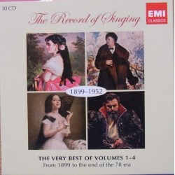 The Record of Singing. Vol. 1-4. (1899-1952). 10 CD. EMI