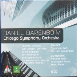 Daniel Barenboim & Chicago Symphony Orchestra. Choral Works by Strauss & Mahler, Schoenberg. 6 CD. Erato