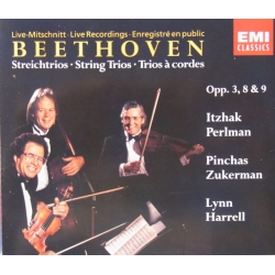 Beethoven: Strygetrioer. Perlman, Zukerman, Harrell. 2 CD. EMI