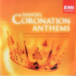 Handel: Coronation Anthems. Choir of Kings College, Cambridge, Cleobury. 1 CD. EMI