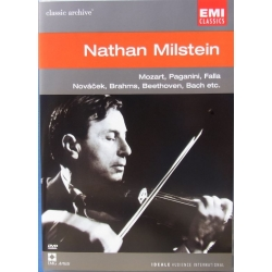 Nathan Milstein In portrait. Mozart, Paganini, de Falla, Novacek, Brahms, Beethoven, Bach. 1 DVD. EMI Classic Archives.