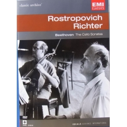 Beethoven: Cellosonate nr. 1-5. Rostropovich, Richter. 1 DVD. EMI