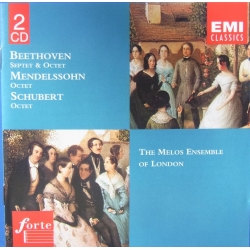 Beethoven: Septet + Oktet. & Mendelssohn: Oktet & Schubert: Oktet. Melos Ensemble of London. 2 CD. EMI