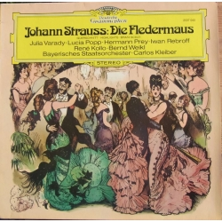 Johann Strauss: Die Fledermaus in highlights. Carlos Kleiber. Varady, Popp, Prey, Rebroff, Kollo, 1 LP DG 2537040