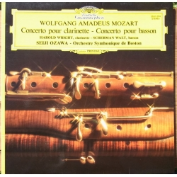 Mozart: Klarinetkoncert. Wright, Seiji Ozawa, Boston SO. 1 LP. DG