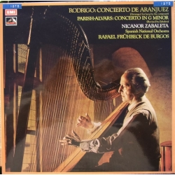 Rodrigo: Concierto de Aranjuez, arranged for Harp. Zabaleta, de Burgos. 1 LP. EMI ASD 3074