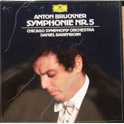 Bruckner: Symfoni nr. 5. Daniel Barenboim, Chicago SO. 2 LP. DG